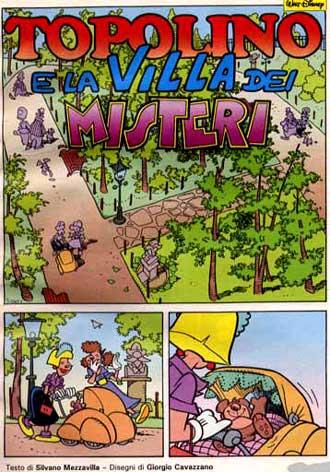 """Topolino da… paura! L'horror visionario in """"Topolino e la Villa dei Misteri""""."""