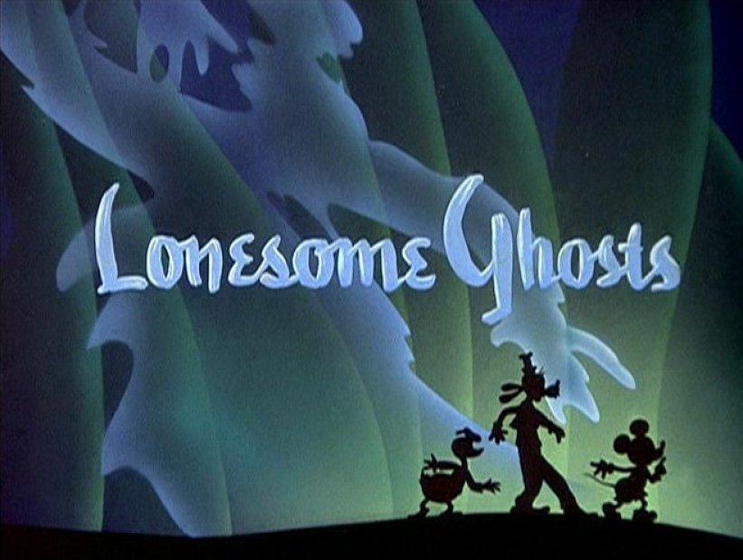 lonesome ghosts, fantasmi, horror, topolino, pippo, paperino, animazione, disney