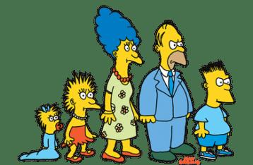 I Simpson nella loro prima apparizione