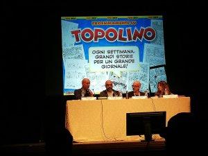 Diapositiva d'apertura della conferenza sulle novità Topolino Magazine.