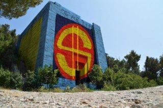 Il rendering del Mausoleo a Ciano riqualificato a Deposito di PdP