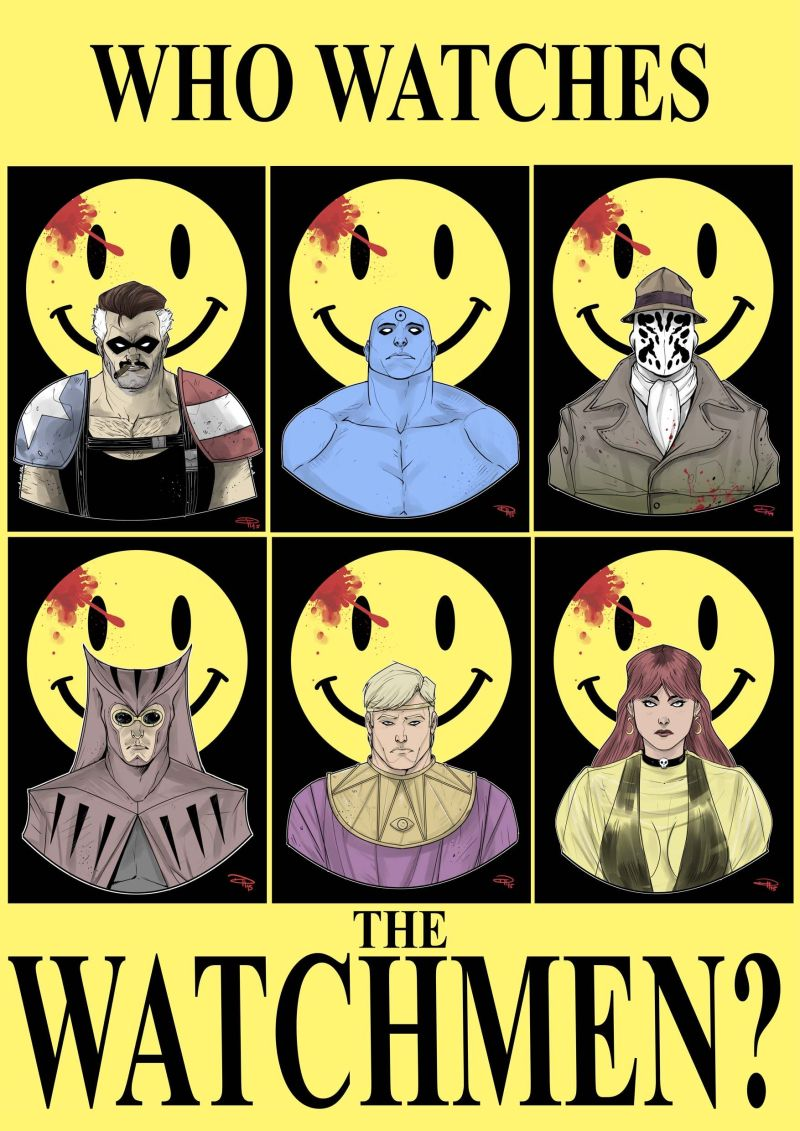 Poster Who watch the Watchmen di Alan Moore