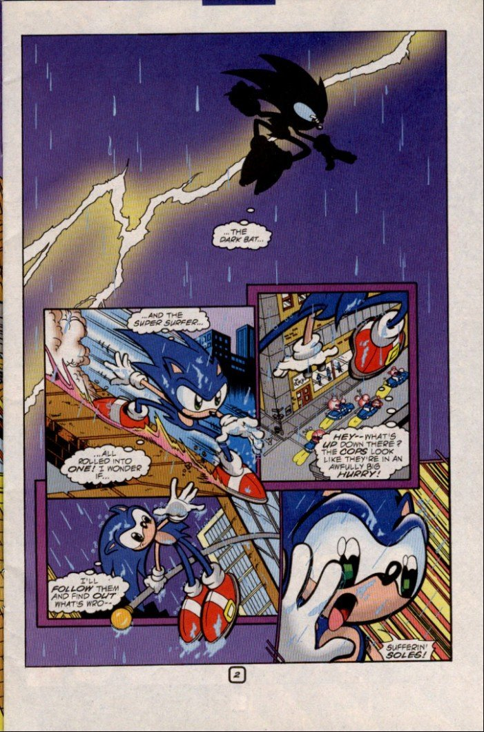 The Dark Knight in Sonic the Hedgehog