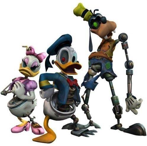 Paperino, Pippo e Paperina animatronici in Epic Mickey