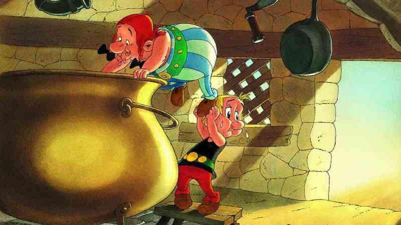 Come fu che Obelix cadde da piccolo nel paiolo del druido Uderzo