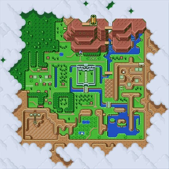 mappa hyrule a link to the past