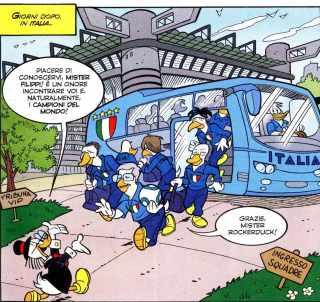 Rockerduck accoglie la squadra azzurra