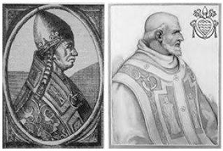 papa alessandro III e innocenzo II