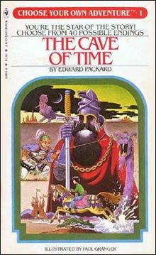 Cave of time: copertina di uno dei romanzi della serie Choose your own adventure.