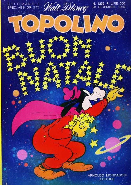 copertina natalizia di topolino 1256