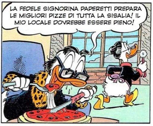 """""""Paperino e il padrino della pizza"""": un padrino ghiotto di pizza"""
