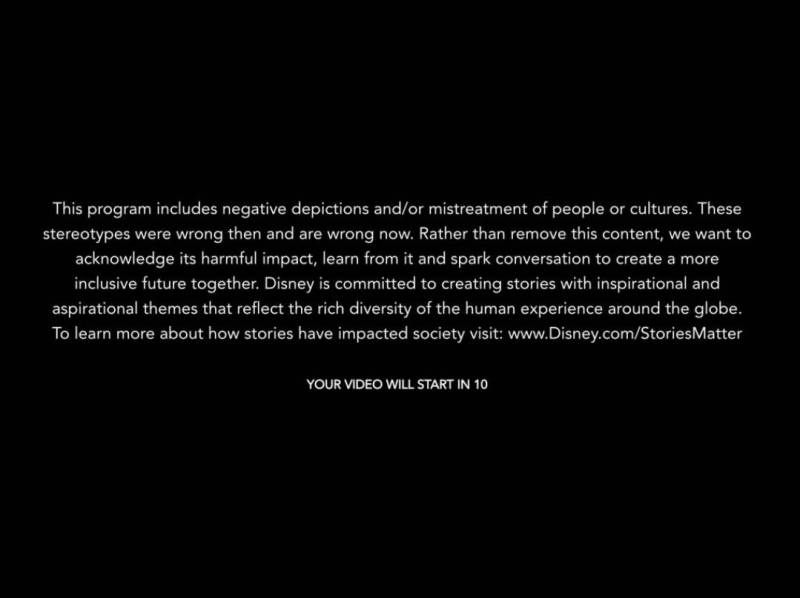 Disclaimer Classici Disney+