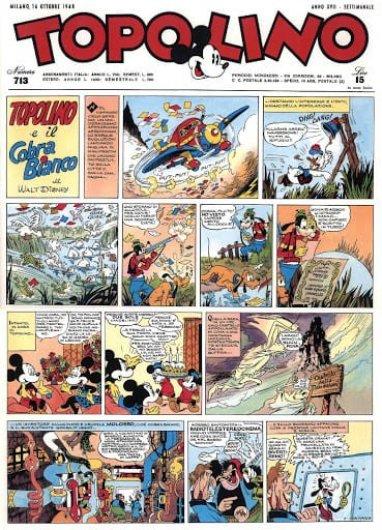 Prima tavola di Topolino e il cobra bianco (record storie Disney)