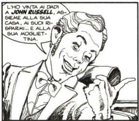 Caricatura di Gastone in Dylan Dog