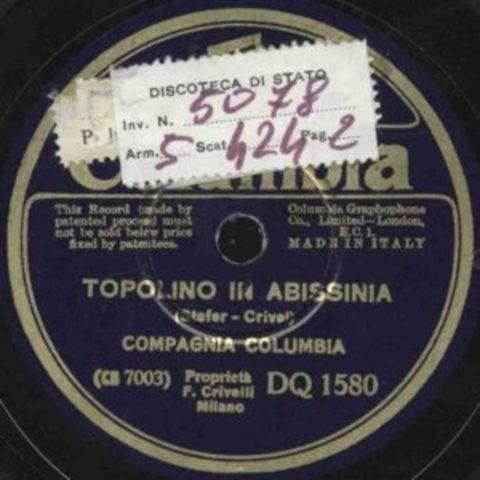 Disco di Topolino va in Abissinia