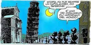 Zio Paperone e la Torre di Pisa viaggio in italia