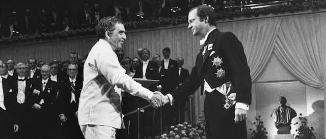 Gabriel García Márquez e Carl Gustaf.