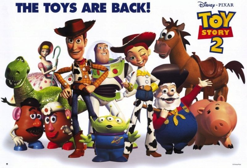 poster promozionale di toy story 2