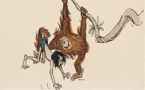 Schizzo da Il libro della giungla.