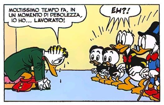 Gastone Paperone Lavoro