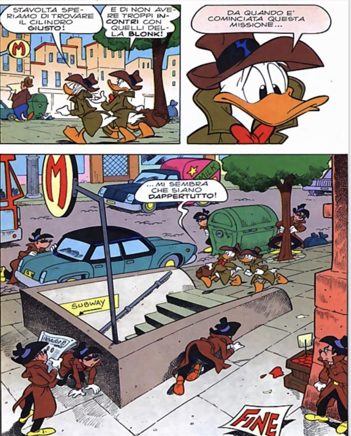 La Blonk circonda gli agenti