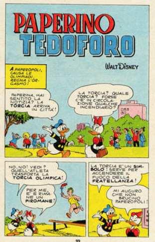 Paperino teodoforo Olimpiadi Disney