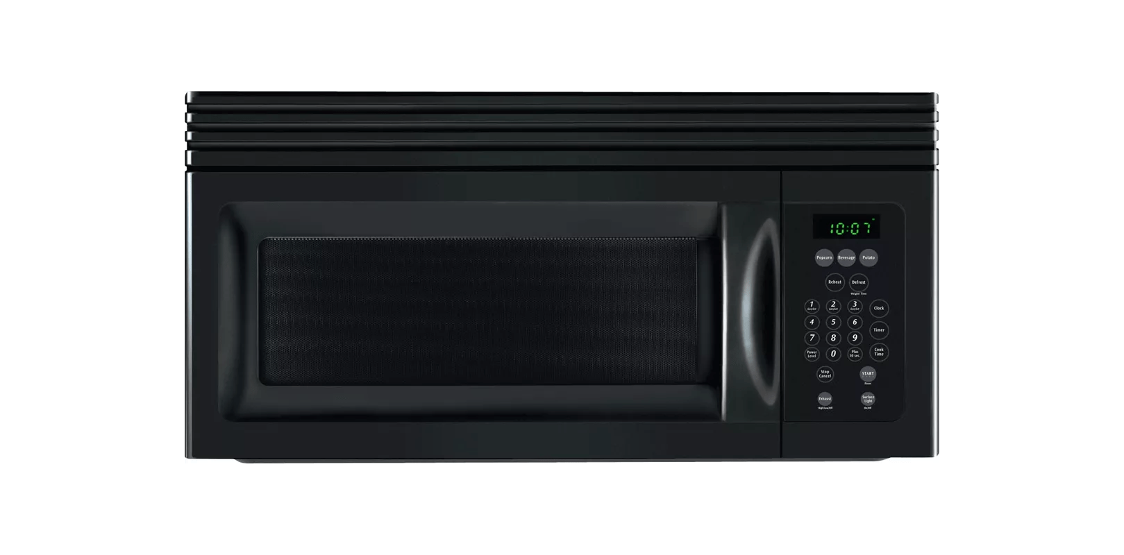 Frigidaire MWV150KB Black 15 Cubic Foot Over The Range Microwave With Ready Select Controls And