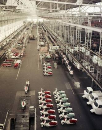 Stabilimento di produzione della Lambretta