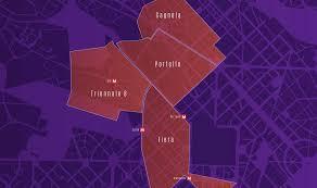 Alpha District - Mappa delle zone