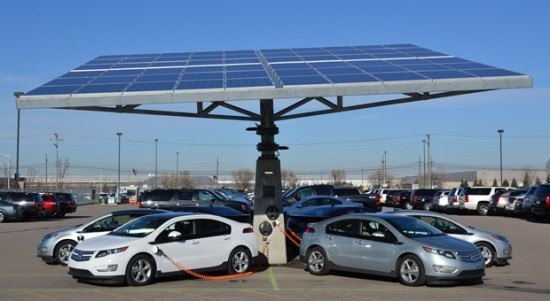 GM의 햇빛바라기나무(Sloar tracking tree) [출처] [이동수단의 혁신1] 이제는 친환경이다. 전기자동차|작성자 숲속얘기