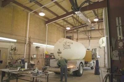 automotive shop exhaust ventilation systems