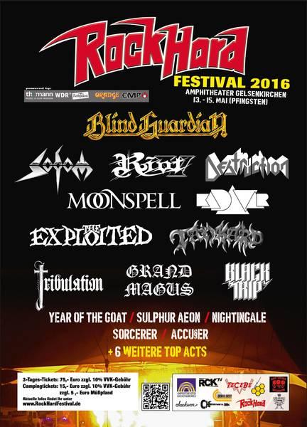 Flyer: Rock Hrad Festival 2016