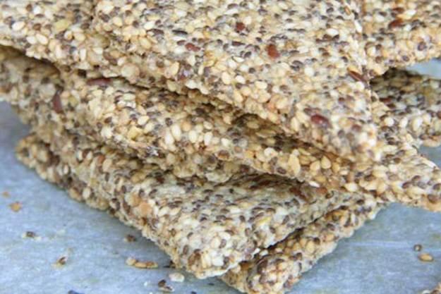 crakers de semillas y chía