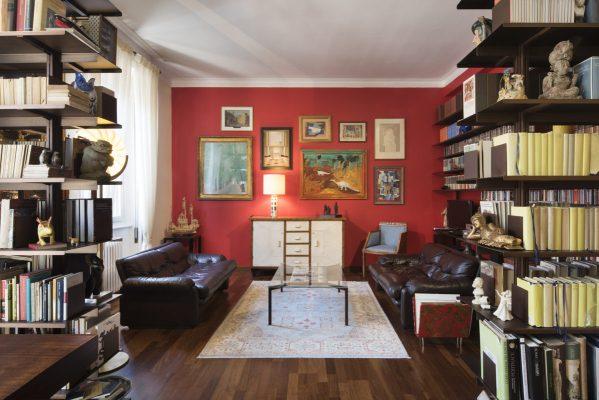 Interno di un appartamento in zona Buenos Aires a Milano, progetto GFR Architettura, consulenza artistica Vera Canevazzi, foto Carola Merello.