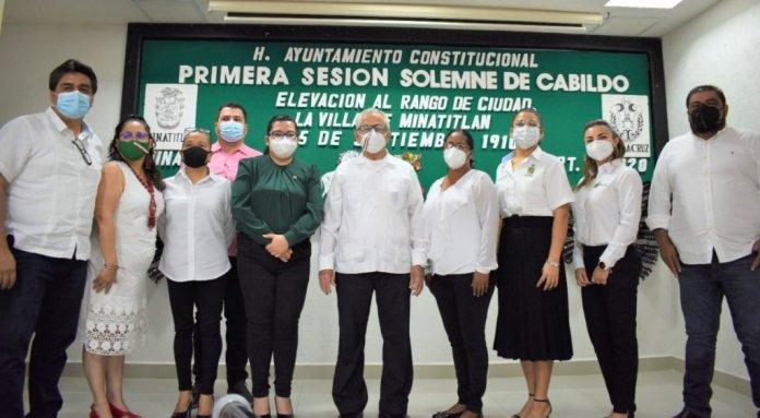 Ediles celebran CX aniversario de que Minatitlán fue elevada a la categoría de Ciudad