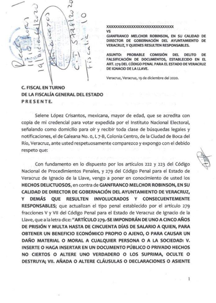 Denuncian a director de Gobernación de Veracruz.