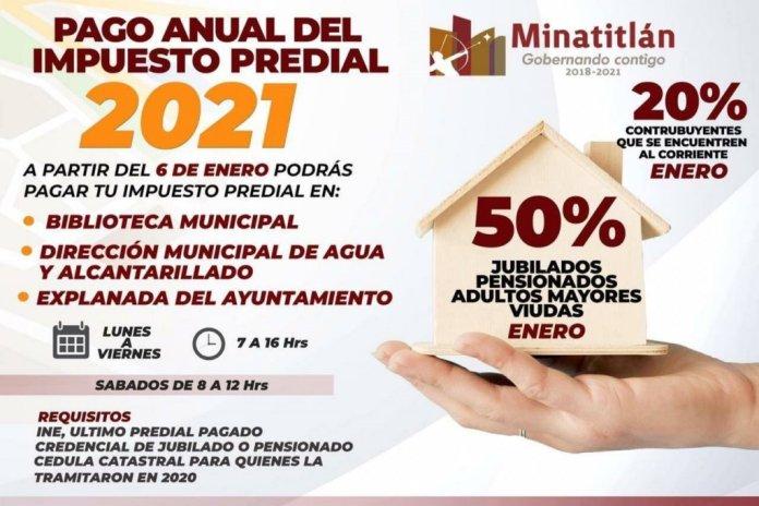 En tres módulos, de lunes a sábado, y con descuentos se realiza el cobro del predial en Minatitlán