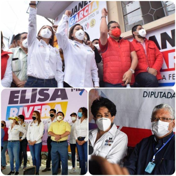 Arrancan campañas a diputaciones federales en Veracruz candidatas y candidatos de Va Por México