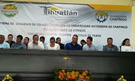 Firma la Universidad Autónoma de Chapingo colaboración con Citricultores del Norte de Veracruz