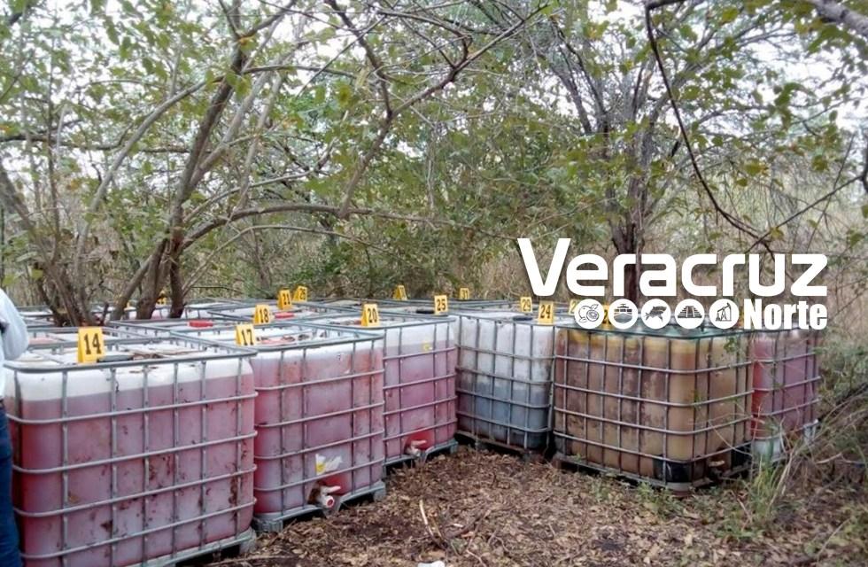 PGR asegura más de 32 mil litros de 'huachicol' en el puerto de Veracruz y Pánuco