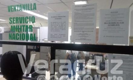 En marcha nuevamente mesa de reclutamiento de Servicio Militar Tuxpan
