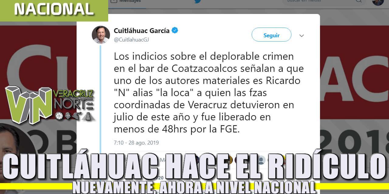 Cuitláhuac hace el ridículo nuevamente, ahora a nivel nacional