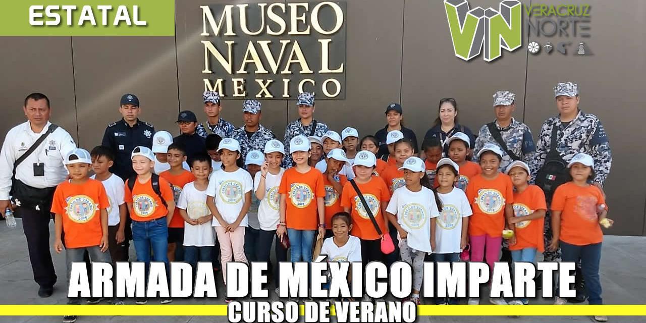 """PERSONAL DE LA ARMADA DE MÉXICO IMPARTE CURSO DE VERANO """"POLICÍA NAVAL 2019"""" A 78 NIÑOS EN VERACRUZ"""
