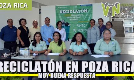 Buena respuesta al segundo Reciclatón en Poza Rica-Tuxpan