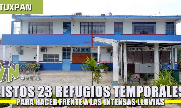 Listos 23 refugios temporales