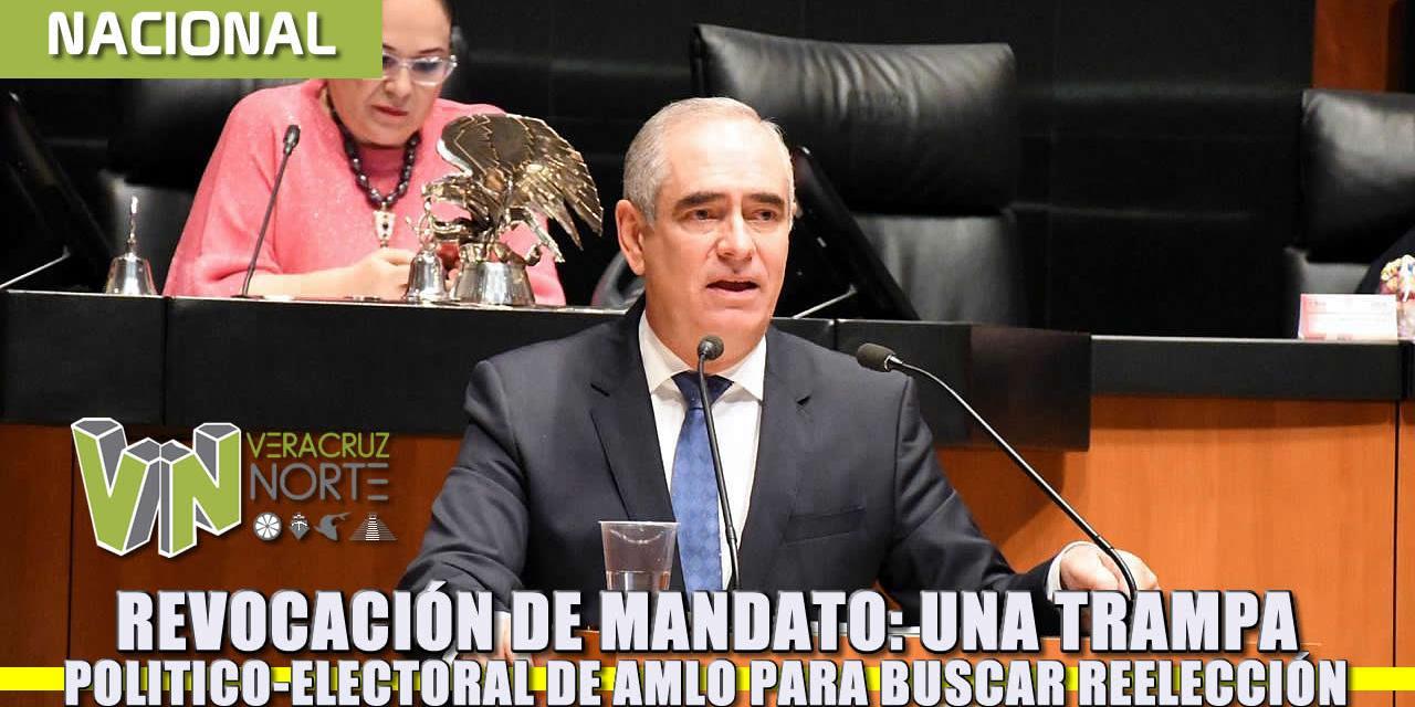 """Revocación de mandato, una """"trampa"""" política-electoral de AMLO para buscar la reelección: Julen Rementería"""