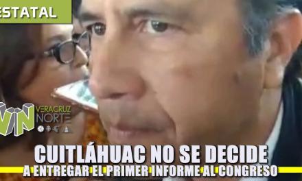 Cuitláhuac no se decide a entregar el primer informe al Congreso