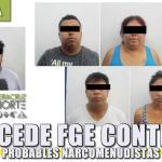 Procede FGE contra seis probables narcomenudistas de Poza Rica