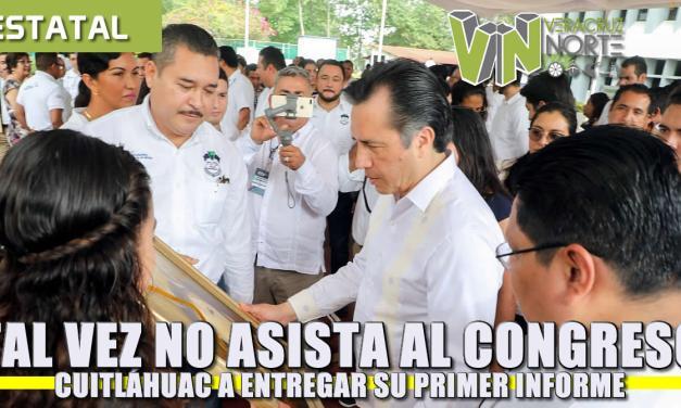 Tal vez no acuda al Congreso Cuitáhuac García a entregar su primer informe de labores