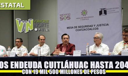 Nos endeuda Cuitláhuac hasta el 2040 por 19 mil 500 millones de pesos